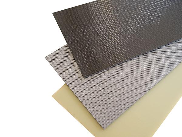 Composite Platten aus CFK Carbon, GFK Glasfaser und BFK Basalt